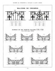 BAY_F2_PL120 – Balcons de croisées – Schémas des nos modèles balcons CO, CQ