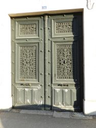 Panneaux de porte et impostes – 14 avenue de la République – Saint-Dizier