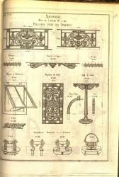 SAV_PL_010 – Balcons pour les croisées, barres d'appui, pied de table, chasse-roue, frise…
