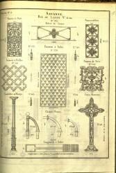 SAV_PL_011 – Balcon de croisée,  panneaux, pied de table, candélabre, croix funéraire…