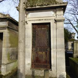 Portes et ornements – division 40 – Cimetière du Père Lachaise – Paris (75020)