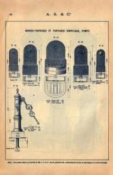 SAL_V1900_PL099 – Bornes-fontaines et fontaines d'applique, pompe