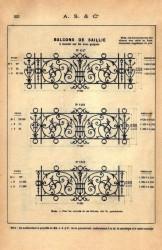 SAL_V1900_PL223 – Balcons de saillie à monter sur fer avec goujons