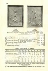STATRE_PL104 – Bas-reliefs – Tarif des yeux en émail