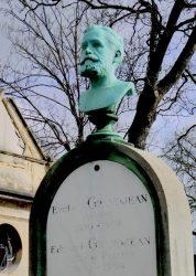 Buste de la sépulture Grandjean – Cimetière du Père-Lachaise – Paris (75020)