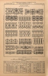 VO1_PL031 – Balcons de croisées – Motifs séparés pour être montés sur fer