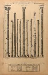 VO1_PL183 – Colonnes ornées pleines ou creuses