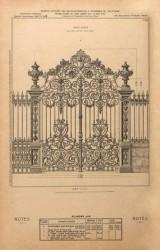 VO1_PL449 – Porte-grille pour entrée de parc ou jardin