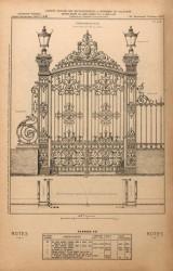 VO1_PL451 – Porte-grille n° 49 pour entrée de parc ou jardin