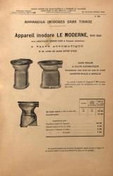VO1_PL956 – Appareils pour waters closets inodores sans tirage