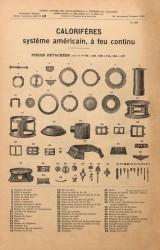 VO1_PL966 – Calorifères système américain, à feu continu, pièces détachées