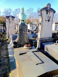 Buste de Joseph Garreau – Cimetière de Montparnasse – Paris (75014)