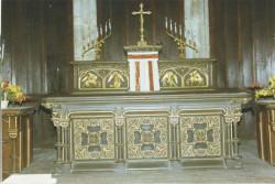 Maître autel de style byzantin – Presles