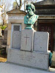 Buste de Thomas Couture – Cimetière du Père Lachaise – Paris (75020)