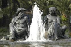 Fuente Neptune y Amphitrite – Cerro Santa Lucía- Santiago de Chile