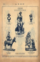 SAL_V1900_PL779 – Statues fonte de fer ou bronze