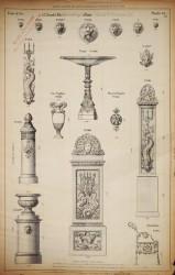 DUC_VO_PL062_F218 – Mascarons, appliques, vasque, fontaines, pied de banc