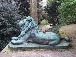 Lion de ménagerie baillant – Jardin des Plantes – Paris (75005)