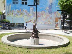 Fontaine au triton – Plazoleta Borges – Mar del Plata