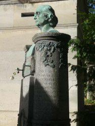 Buste et médaillon du monument Hyacinthe Loyson  – Cimetière du Père Lachaise – Paris (75020)