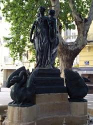 Fuente de la Tres Gracias – Fontaine des Trois Grâces –  Valencia