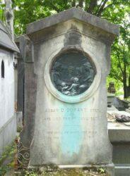 Bas-relief de la sépulture de Susan Durant –  Cimetière du Père Lachaise – Paris (75020)