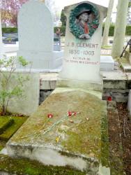 Sépulture de Jean-Baptiste Clément – Cimetière du Père Lachaise – Paris (75020)