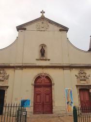 Statue de Saint Germain – Façade de l'église Saint-Germain-l'Auxerrois – Fontenay-sous-Bois