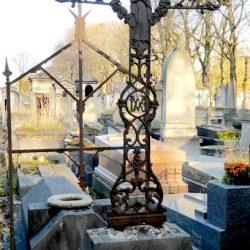 Croix de la sépulture Sauer – Cimetière du père Lachaise – Paris (75020)