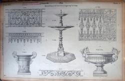 DUC_VO_PL076_F18 – Balcons de terrasse et de croisées – Barres d'appui, coupe, vase, vasque