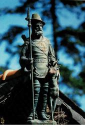 Statue Saint Hubert – Les Forges – Paimpont (volée)