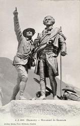 Monument à Saussure et Balmat – Chamonix