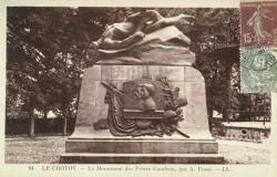 Monument aux frères Caudron – Le Crotoy (fondu) (remplacé)
