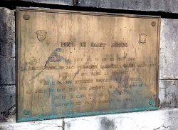Plaque commémorative du Pont Neuf – Rumilly