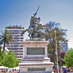Monument équestre au général O'Higgins – Plaza de los Héroes – Rancagua