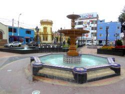 Pileta – Vasque fontaine – Plaza San Pedro – Chorillos