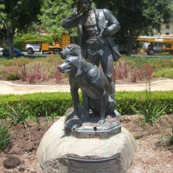 Valet de chiens – Hunter and hounds – Beverly Hills (Californie)