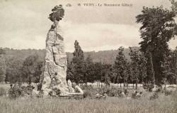 Monument à Eugène Gilbert – Parc des Bourins – Vichy (fondu et remplacé)