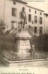 Monument à Nicolas Joseph Florent Gilbert (fondu, remplacé) – Fontenoy-le-Château
