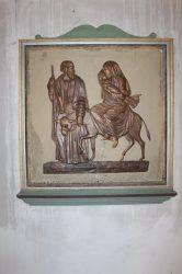"""Plaque """"La fuite en Égypte"""" – Eglise – Orges"""