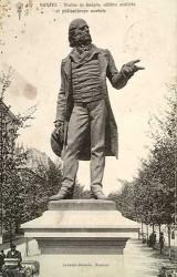Monument au docteur Guépin – Place Delorme – Nantes (fondu et remplacé par un buste en pierre)