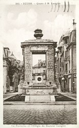 Monument au docteur Langlet (fontaine des Boucheries) – Reims
