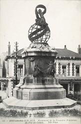 Monument à l'aéronaute François Lhoste – Boulogne-sur-Mer (fondu)