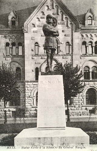 Monument au g n ral mangin rue gambetta metz for Metz code postal