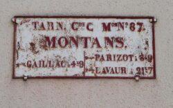 Plaque de cocher – Montans