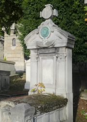 Médaillon de Jean-Édouard Ramousset – Cimetière du Père Lachaise – Paris (75020)