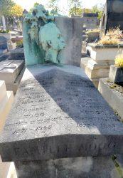 Buste de Frédéric Charles Moog – Cimetière du père Lachaise – Paris (75020)