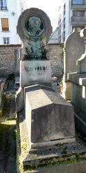 Médaillon de Jules Noriac – Cimetière de Montmartre – Paris  (75018)