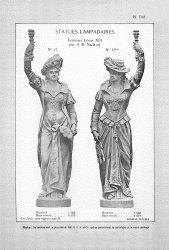 CAP_PL1143 – Statues lampadaires Femmes Louis XIII par Nadaud