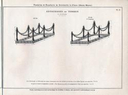 DOM_AG_1928_PL72 – Entourages de tombes à chaînes